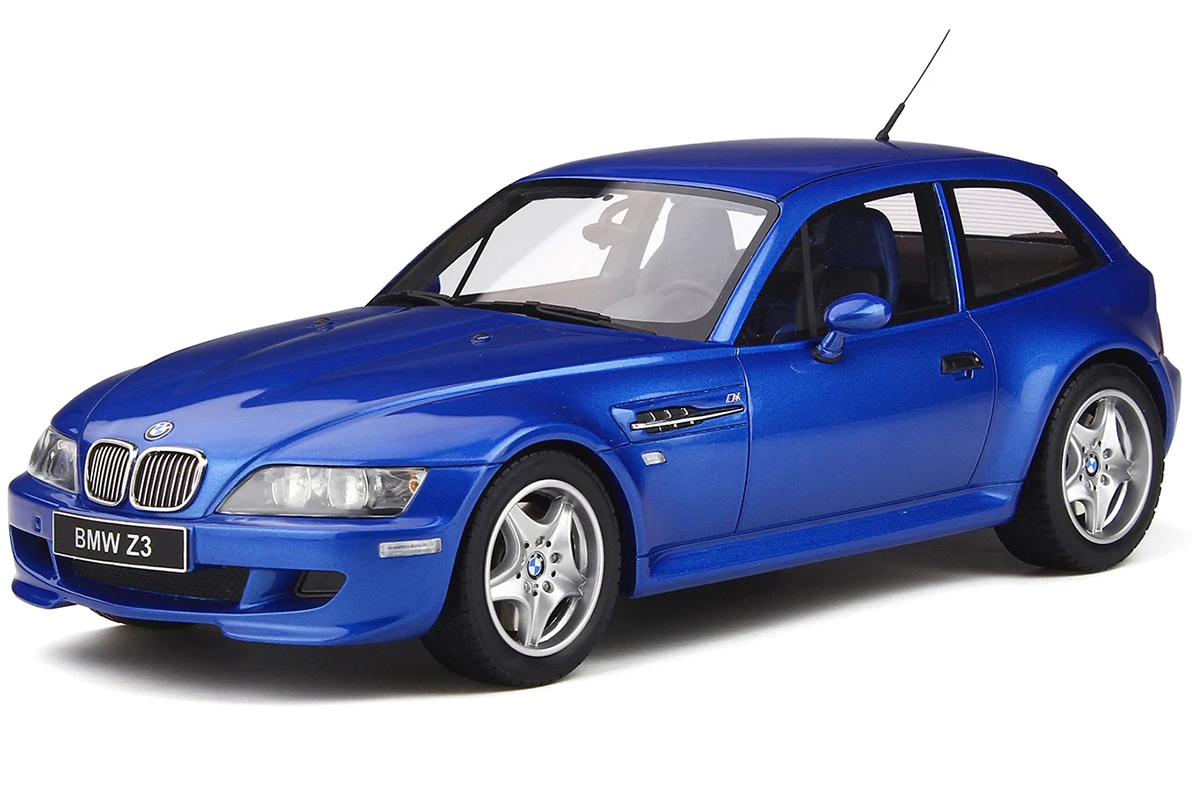 BMW Z3 M Coupe 3.2 Estoril Blue Metallic Limited Edition to 2000 pieces Worldwide 1/18 Model Car by Otto Mobile