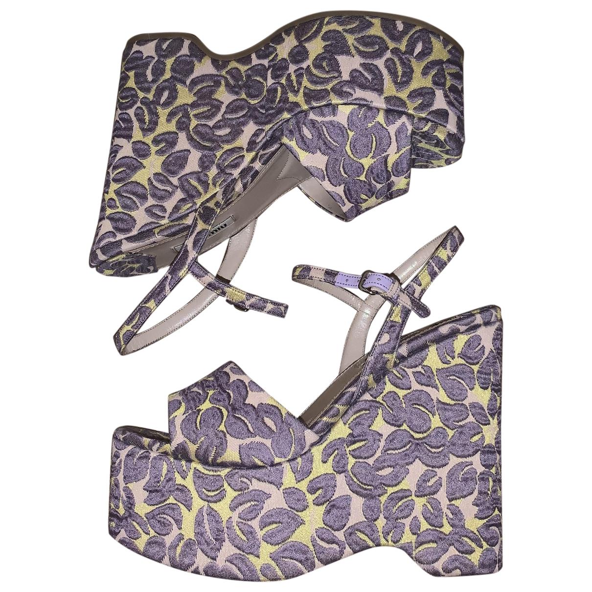 Miu Miu - Sandales   pour femme en toile - violet