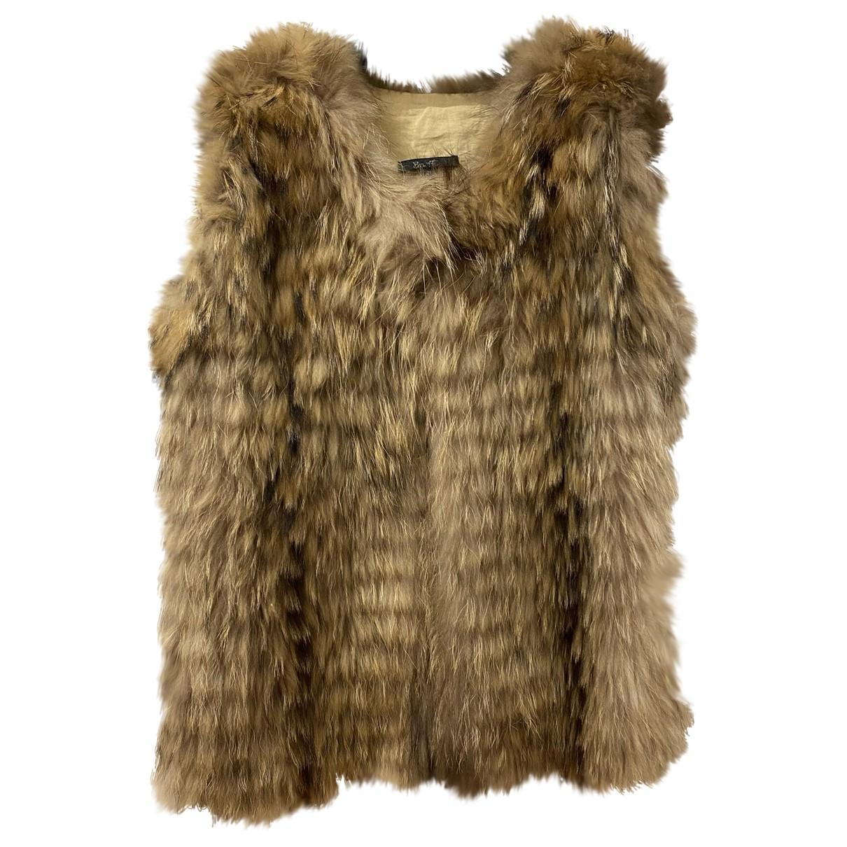 Bel Air N Beige Fur Knitwear for Women 38 FR