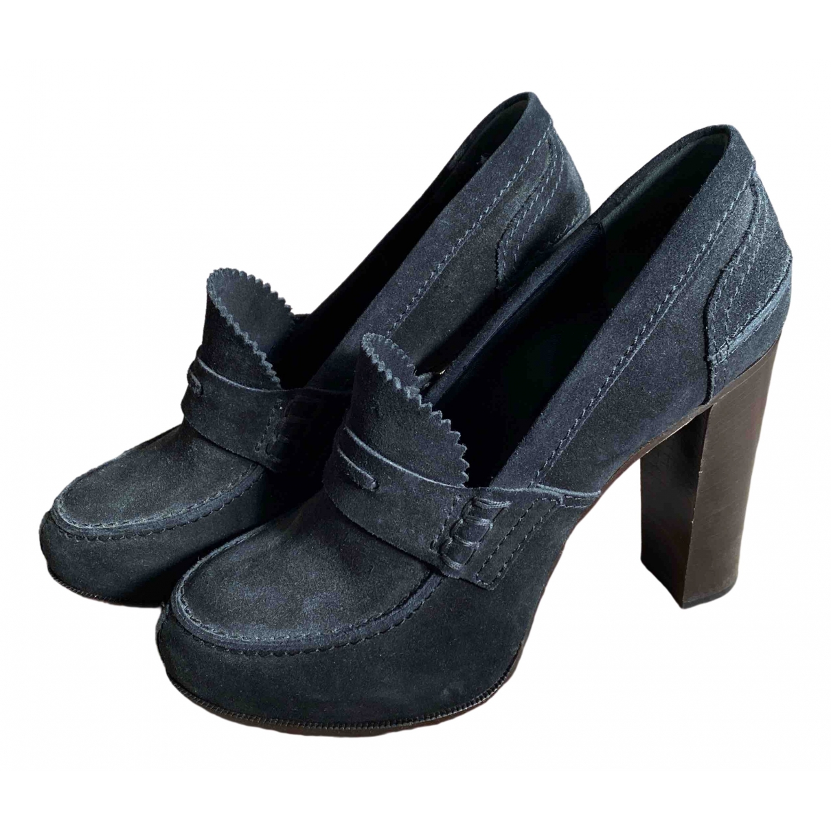 Celine \N Black Suede Heels for Women 39 EU