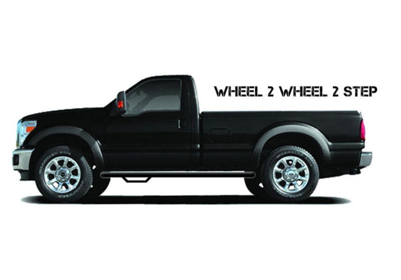 N-FAB Wheel 2 Wheel Nerf Step Textured Black Chevrolet 1500 Regular Cab 6.5' Bed