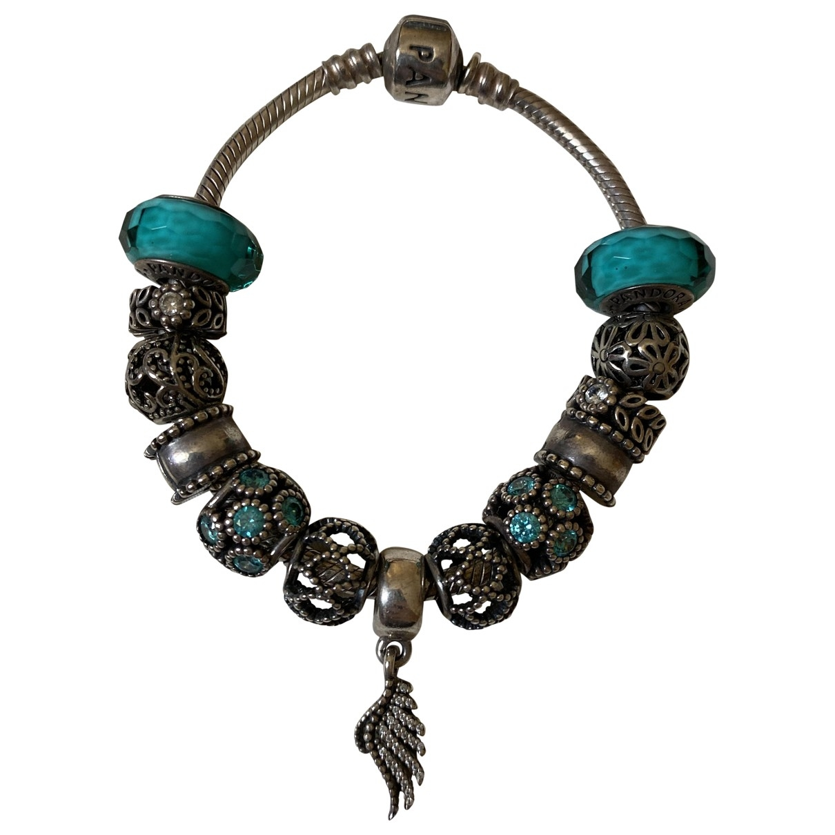 Pandora \N Armband in  Blau Silber