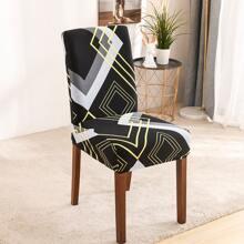Stuhlbezug mit geometrischem Muster