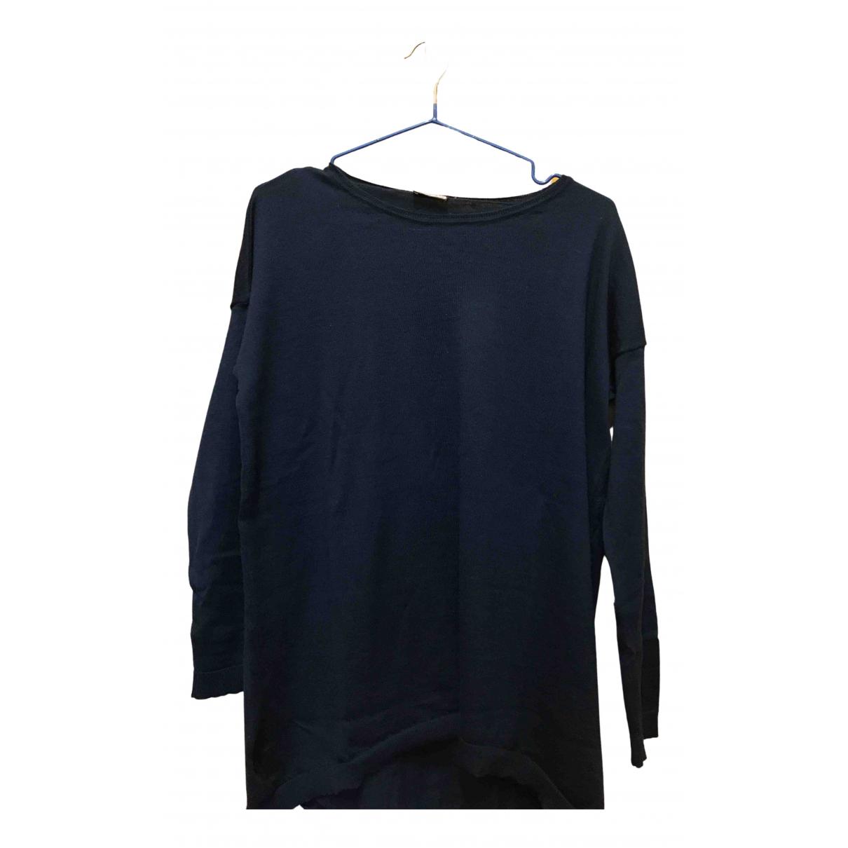 Maliparmi - Pull   pour femme en laine - bleu