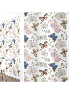 3D Butterflies and Flowers Printed Sturdy Waterproof and Eco-friendly Wall Mural