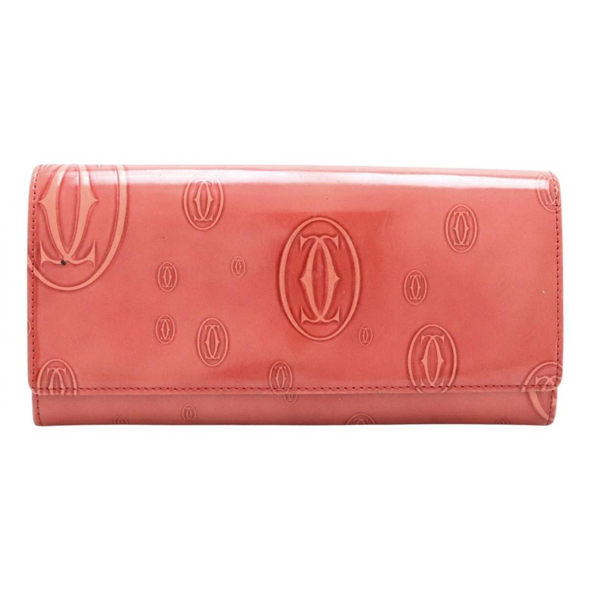 Cartier - Portefeuille   pour femme en cuir verni - rouge