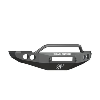 Road Armor Stealth Front Non-Winch Bumper with Pre-Runner Guard (Texture Black) - 40804B-NW