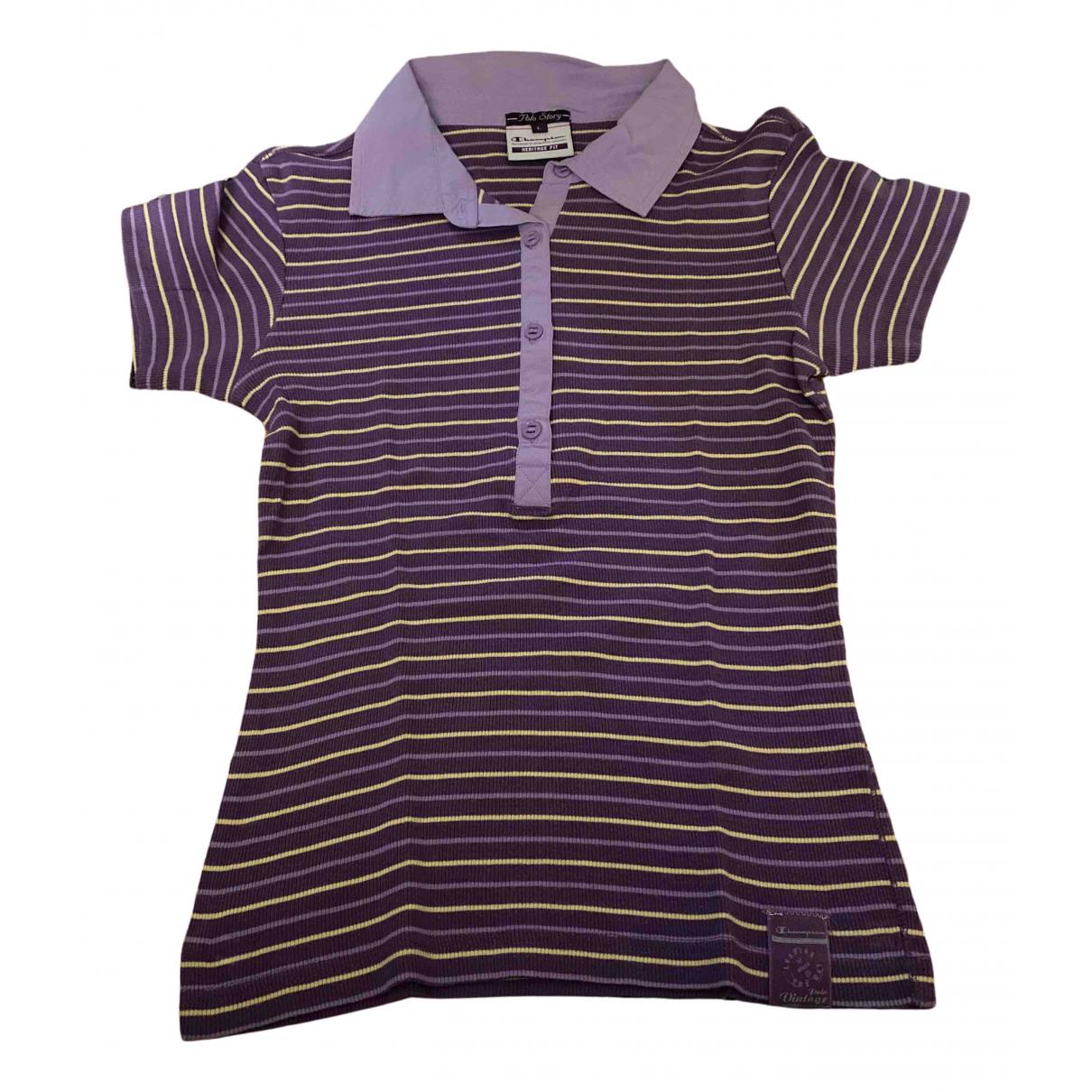 Champion - Top   pour femme en coton - violet