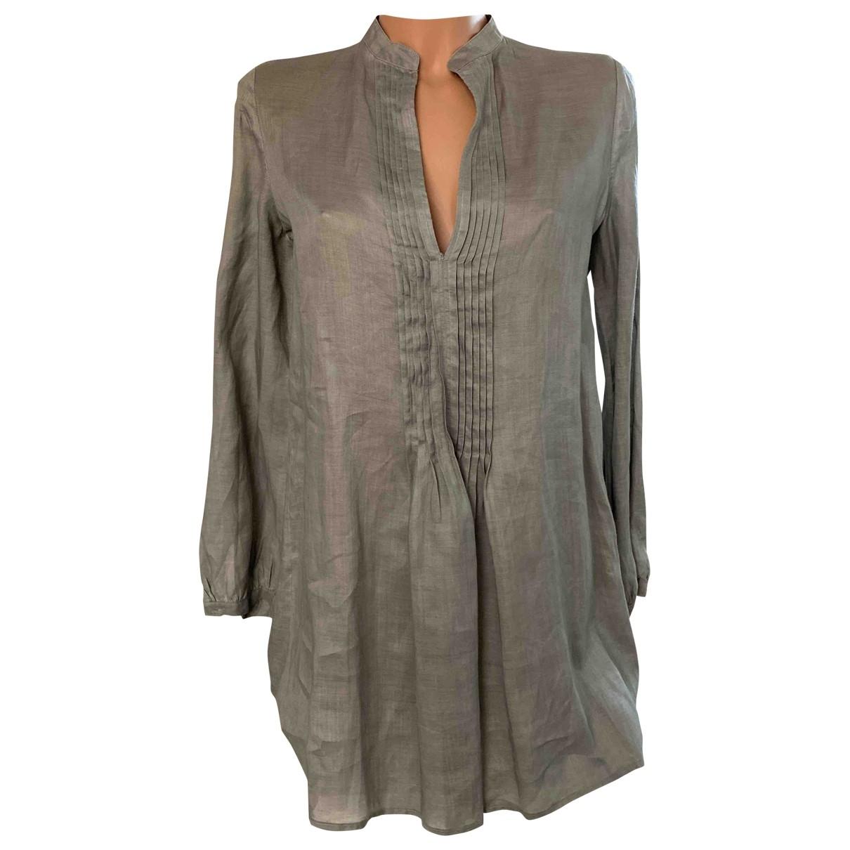 Maliparmi \N Kleid in  Grau Leinen