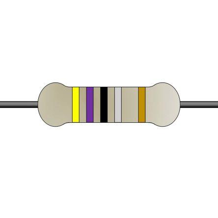 Yageo 4.7Ω Wirewound Wirewound Resistor 2W 5% FKN2WSJT-52-4R7 (1000)