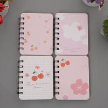 1pack Flower Print Cover Random Notebook