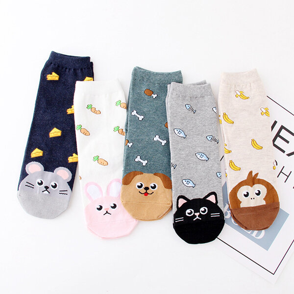 Women Cartoon Character Cotton Ankle Socks Essential Liner Socks Elastic Best Summer Hiking Socks