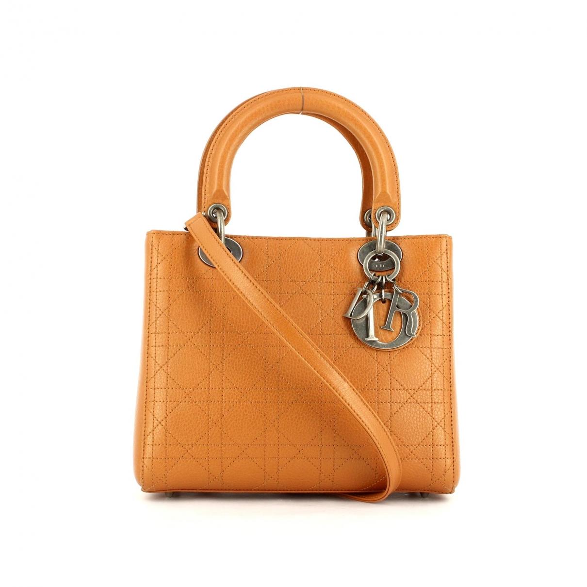 Dior - Sac a main My Lady Dior pour femme en cuir - orange