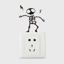 Cartoon Skull Print Switch Sticker