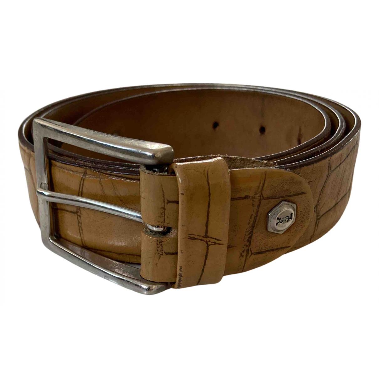 Yves Saint Laurent N Beige Leather belt for Women 95 cm