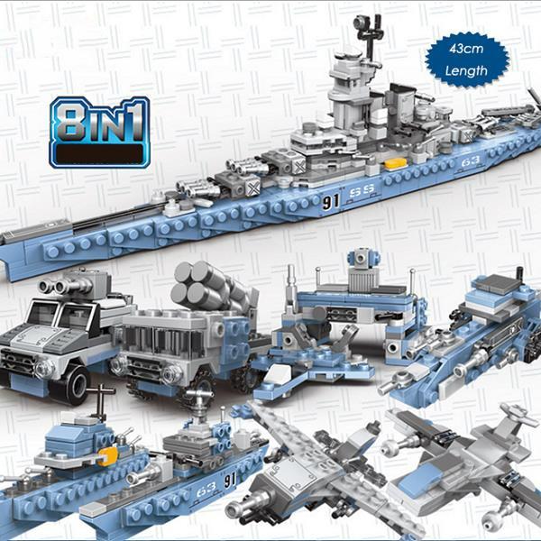 XINGBAO 13004 USS Missouri 8 in 1 Building Block Puzzle Toys