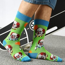 Men Clown Pattern Socks
