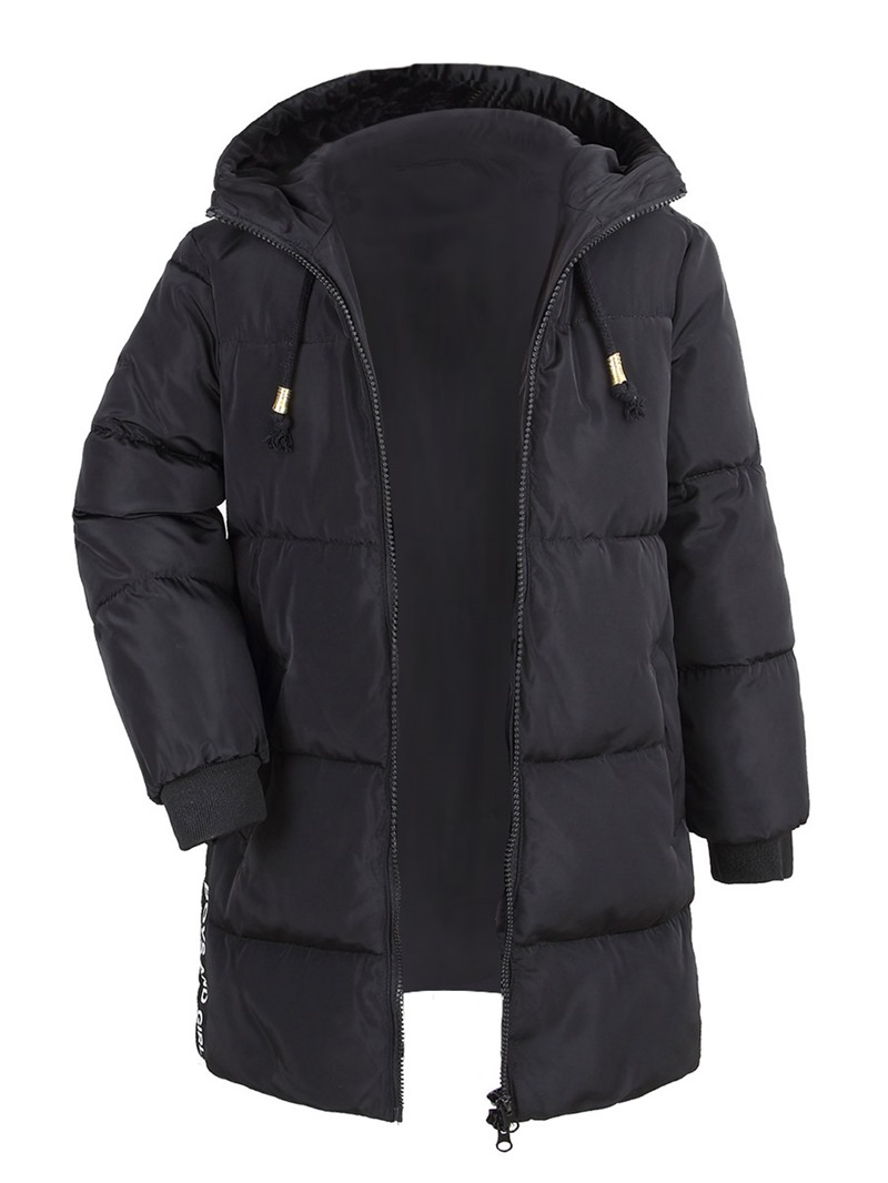 Ericdress Hooded Zipper Mid-Length Thick Boys & Girls Down Jacket