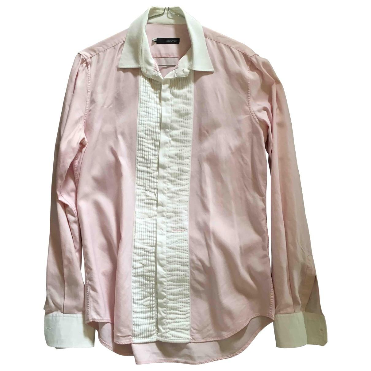 Dsquared2 \N Pink Cotton Shirts for Men M International