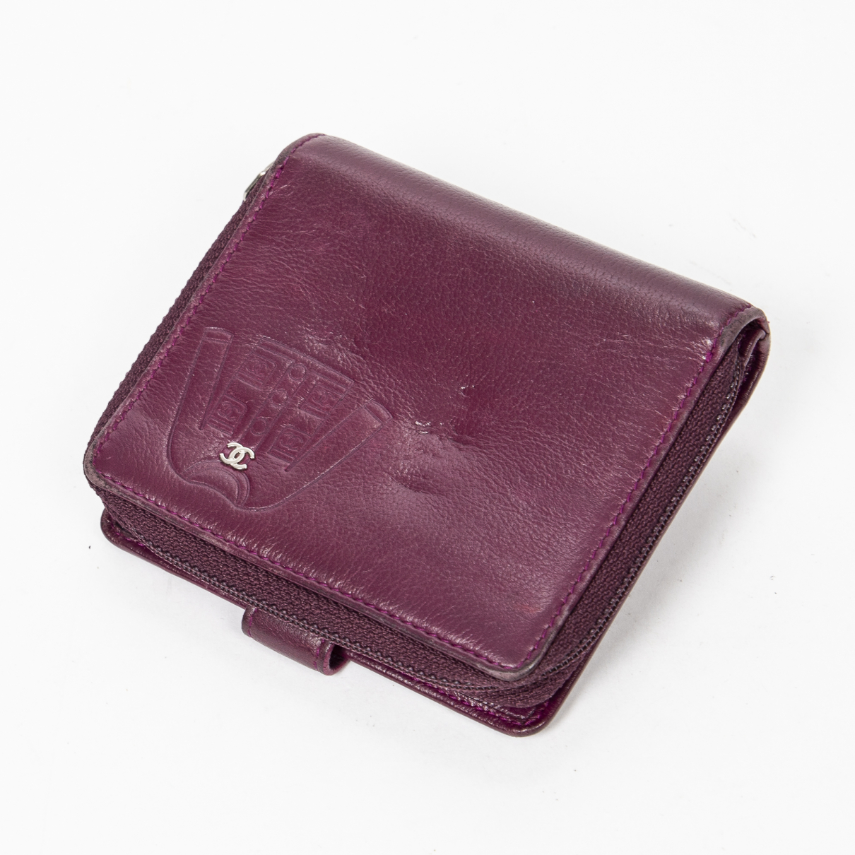Chanel \N Purple Leather wallet for Women \N
