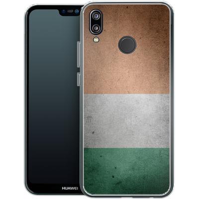 Huawei P20 Lite Silikon Handyhuelle - Rustic Irish Flag von caseable Designs