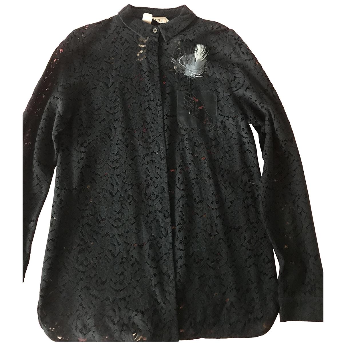 N°21 \N Black Lace  top for Women 42 IT