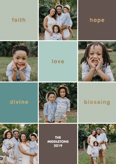 Christmas Photo Cards 5x7 Cards, Premium Cardstock 120lb with Rounded Corners, Card & Stationery -Season Of Blessings