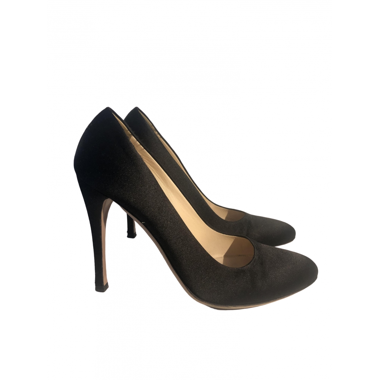 Prada \N Black Cloth Heels for Women 36.5 EU