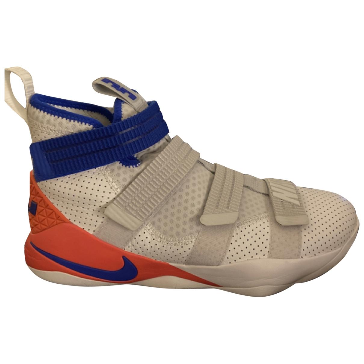 Nike Lebron X Kith - Baskets   pour homme en caoutchouc - blanc