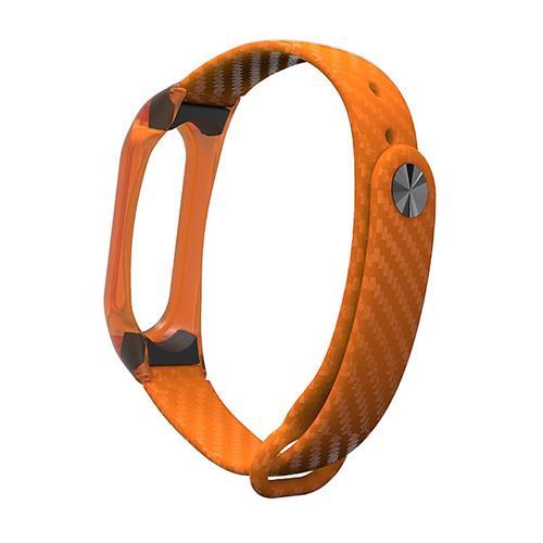 Xiaomi Mi Band 2 3D Watchband Stylish Silicone Replacement Wristband Strap - Orange