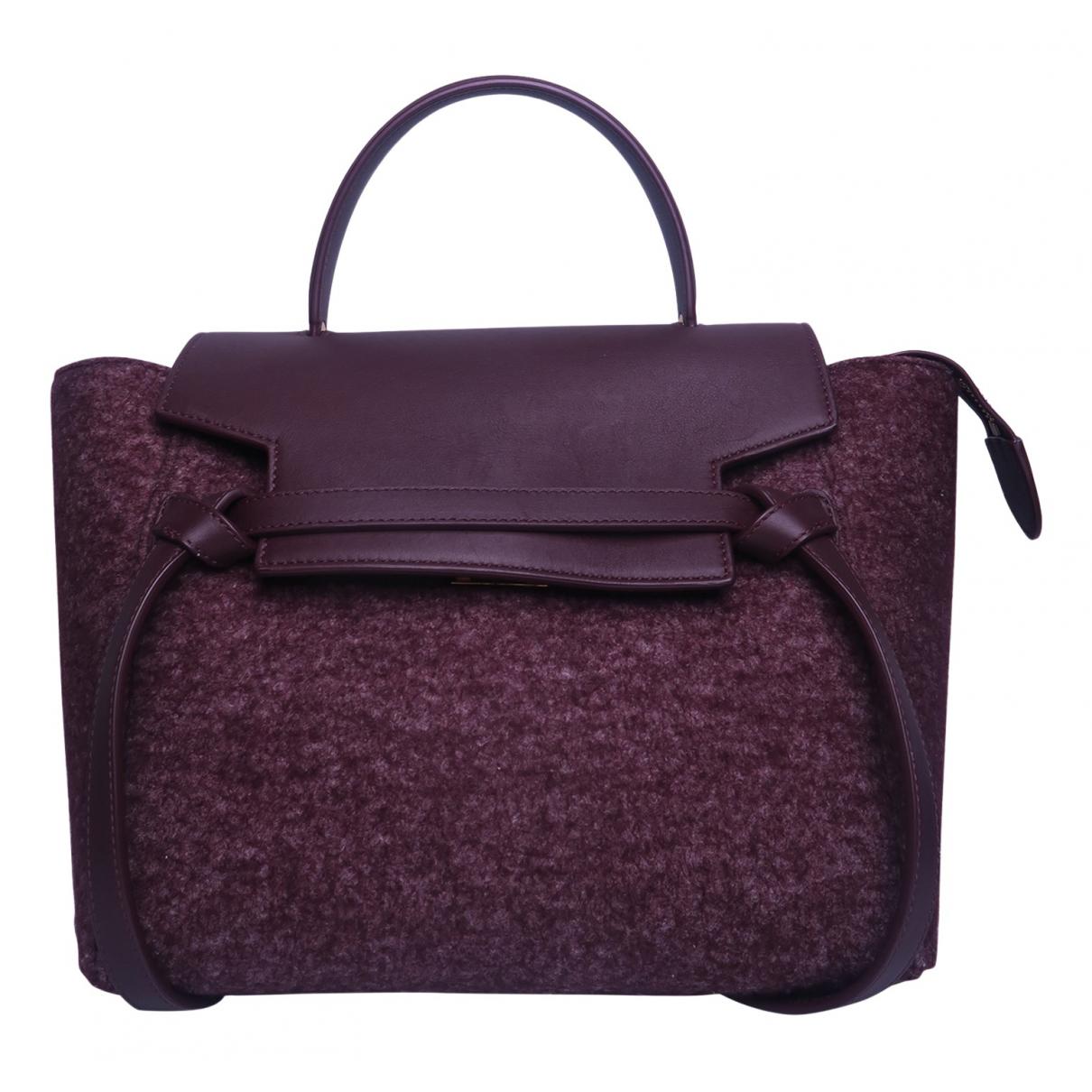 Celine Belt Burgundy Leather handbag for Women N