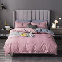 Striped Pattern Bedding Set Without Filler