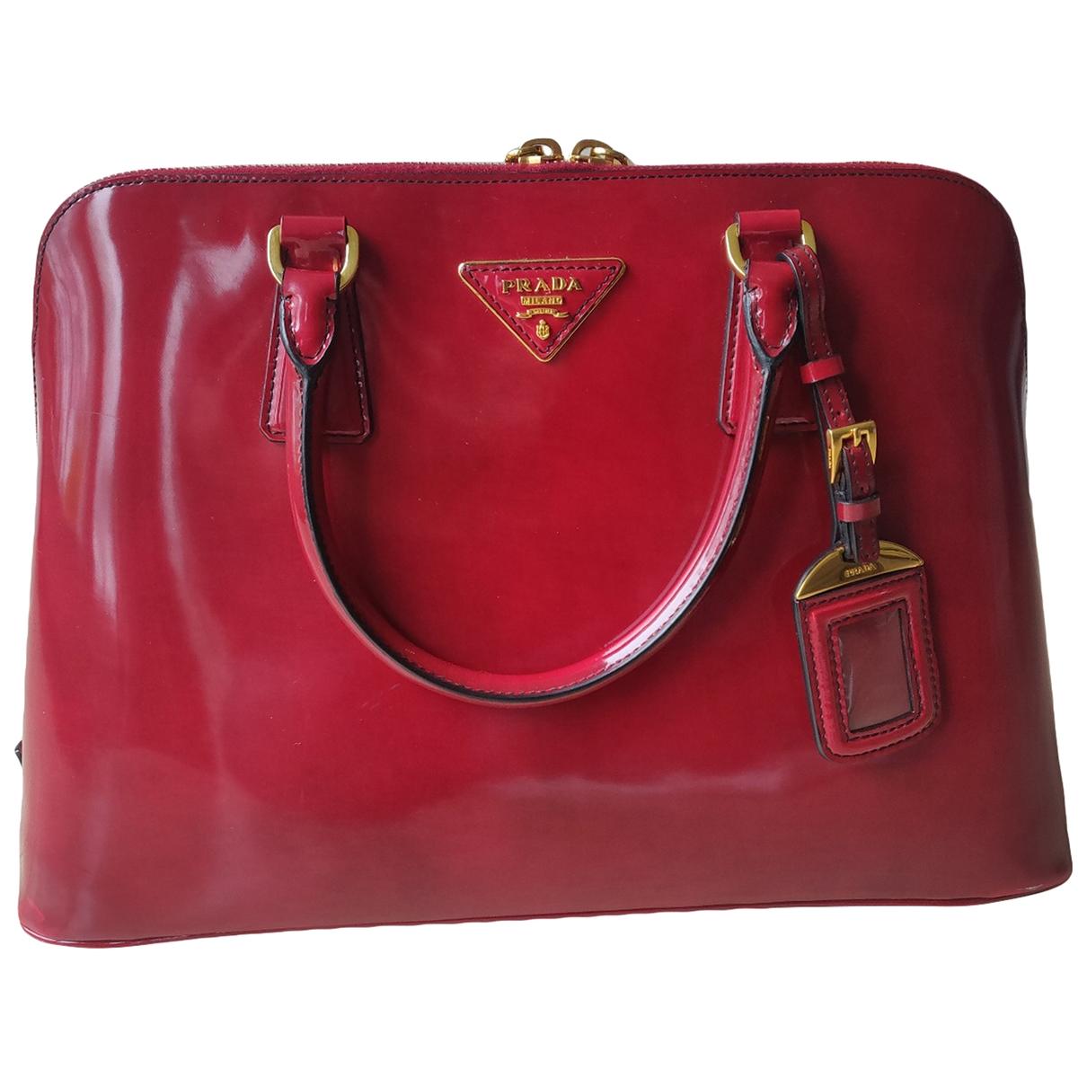 Prada - Sac a main Promenade pour femme en cuir - rouge