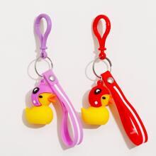 2pcs Duck Charm Keychain