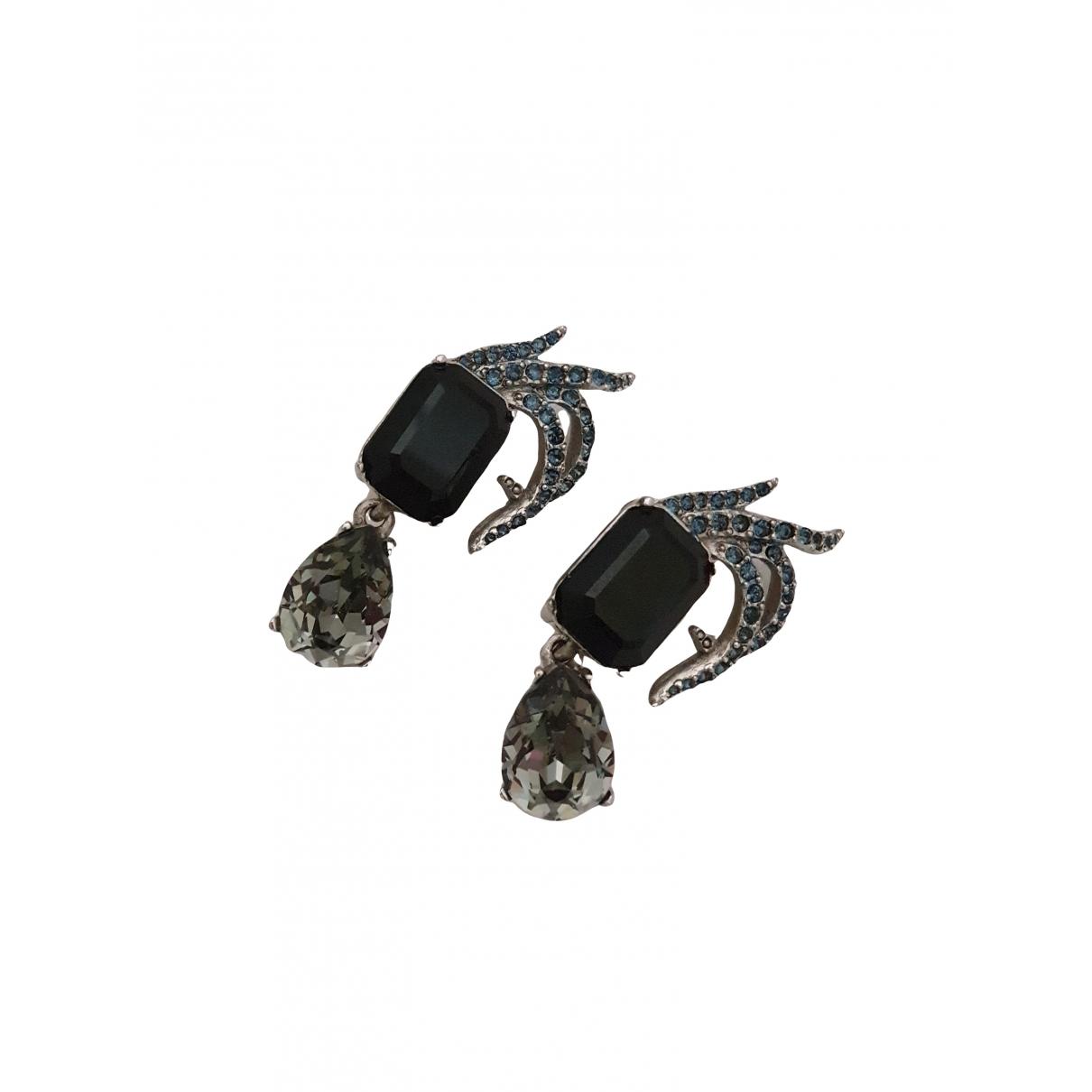 Oscar De La Renta \N Black Crystal Earrings for Women \N