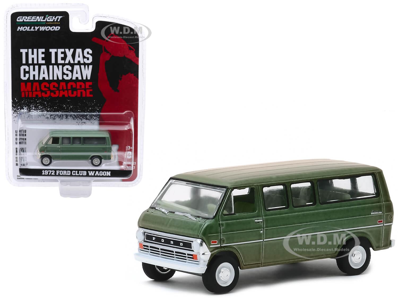 1972 Ford Club Wagon Bus Green (Weathered)