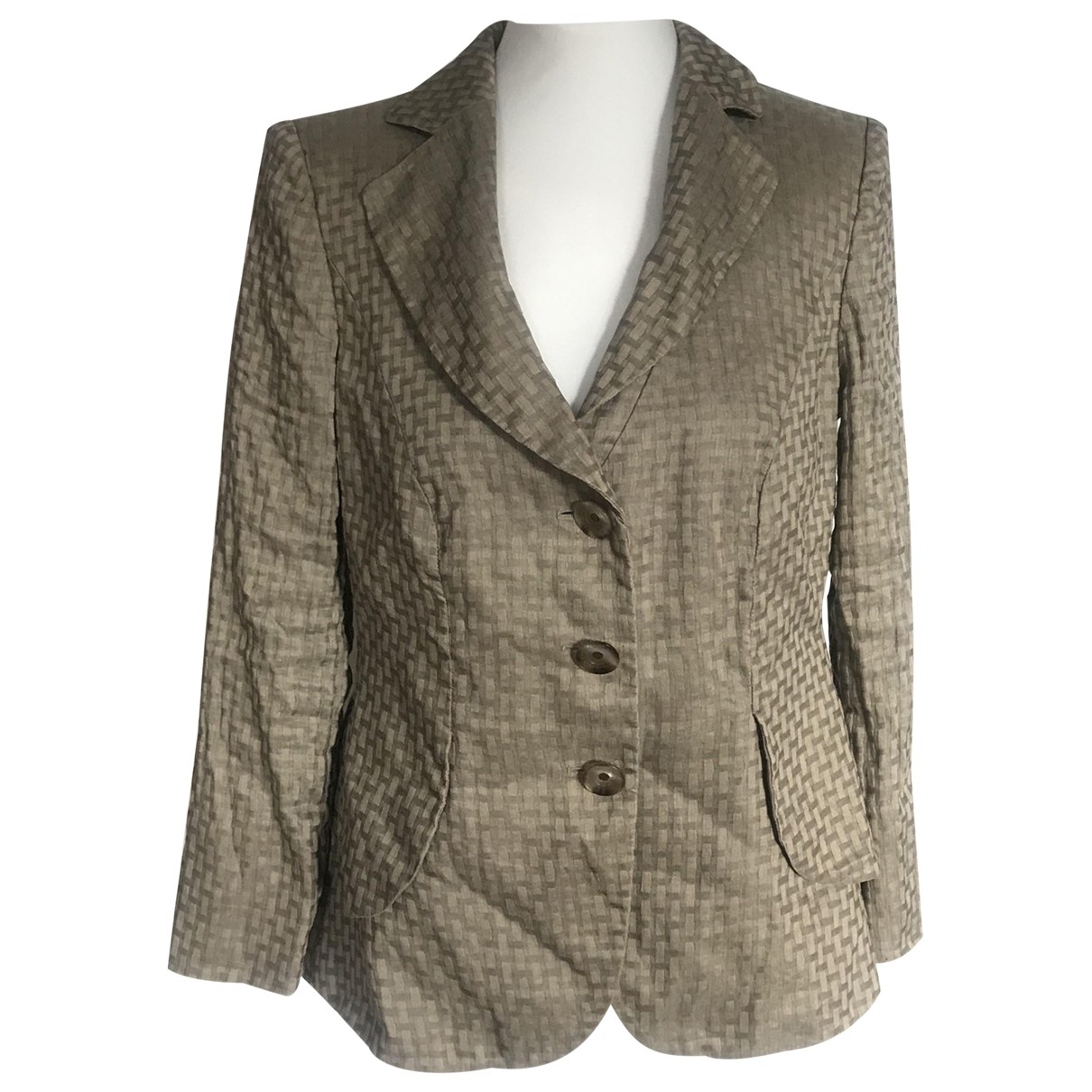 Armani Collezioni \N Brown Linen jacket for Women 48 IT