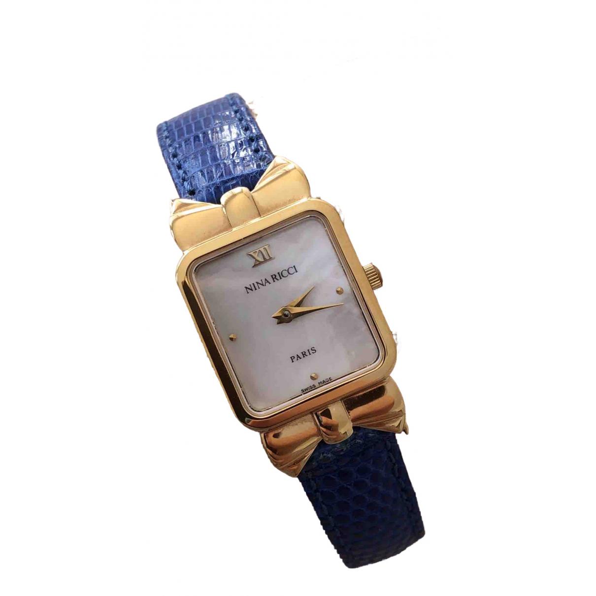 Nina Ricci \N Uhr in  Marine Vergoldet