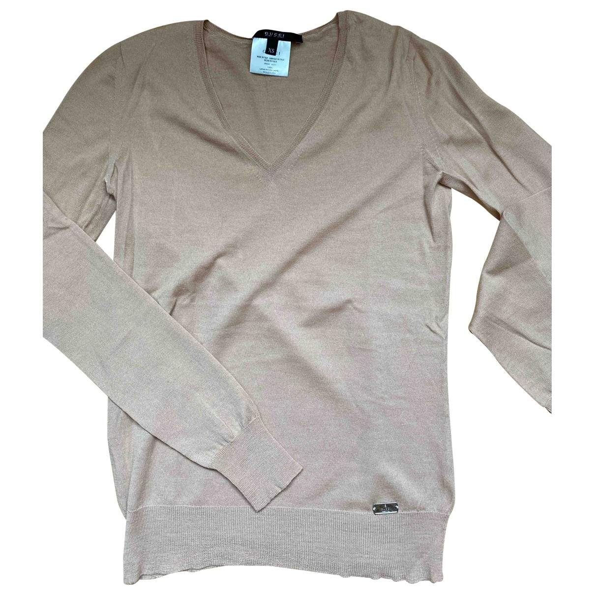Gucci \N Pullover in  Rosa Wolle