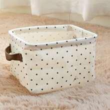 1pc Polka Dot Pattern Storage Basket