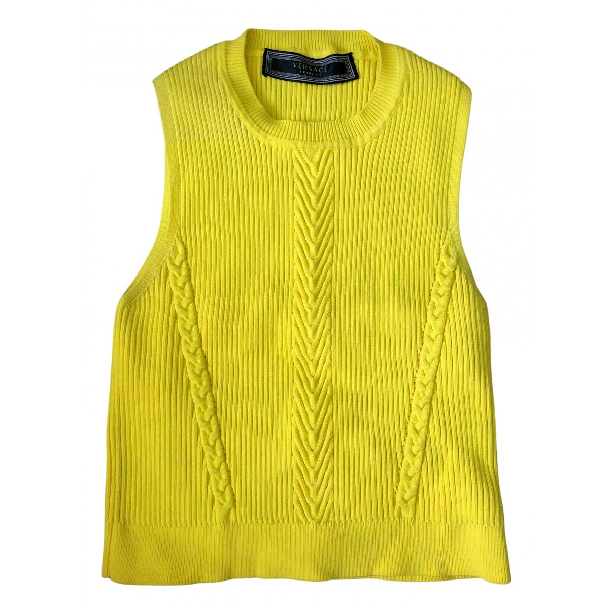 Versace \N Top in  Gelb Viskose
