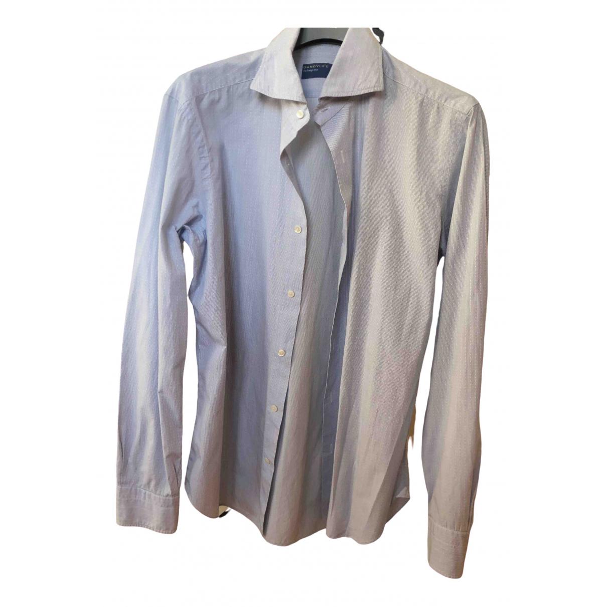 Barba \N Cotton Shirts for Men 40 EU (tour de cou / collar)