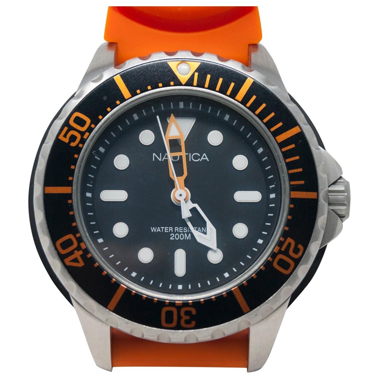 - Montre   pour homme en acier - orange