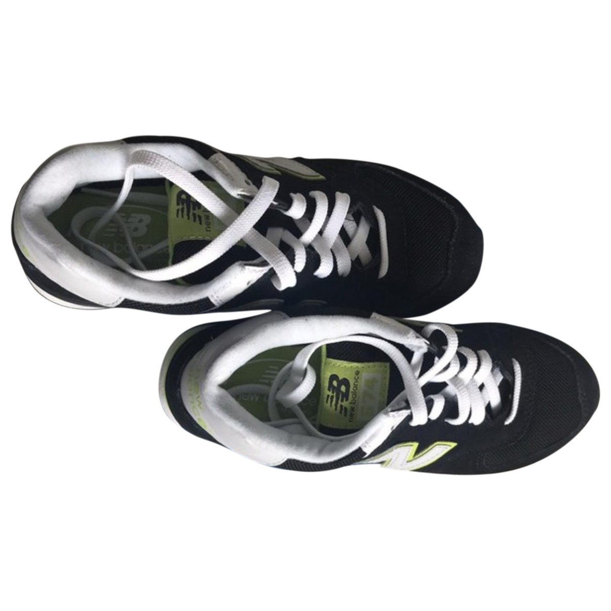 New Balance \N Black Suede Trainers for Women 37.5 EU