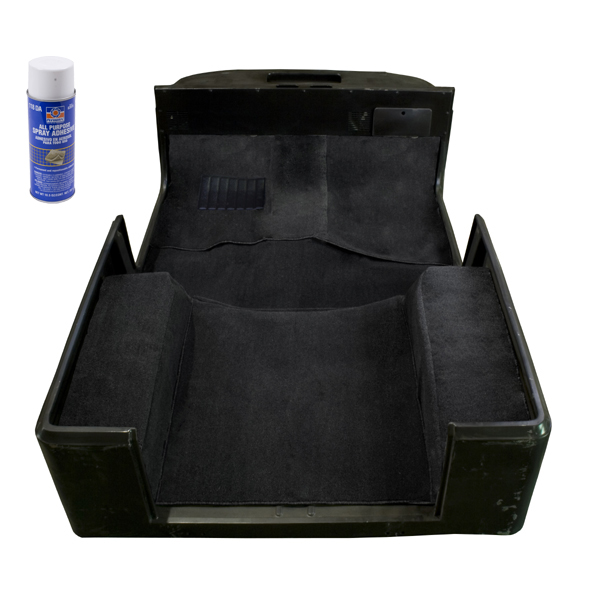 Rugged Ridge 13695.01 Deluxe Carpet Kit, with Adhesive, Black; 76-95 Jeep CJ/Wrangler YJ Jeep