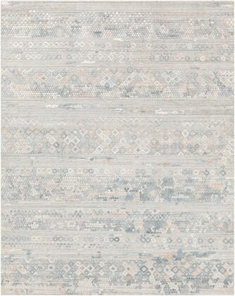 Makalu MKL-2303 6' x 9' Rectangle Global Rug in Pale Blue  Medium Gray  Sage  Light Gray