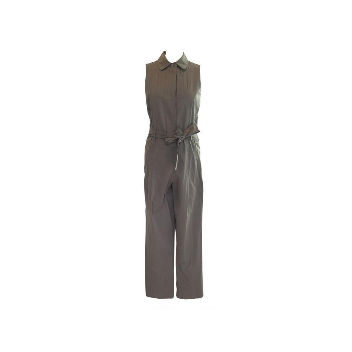 Yves Saint Laurent \N Brown Cotton jumpsuit for Women 36 FR