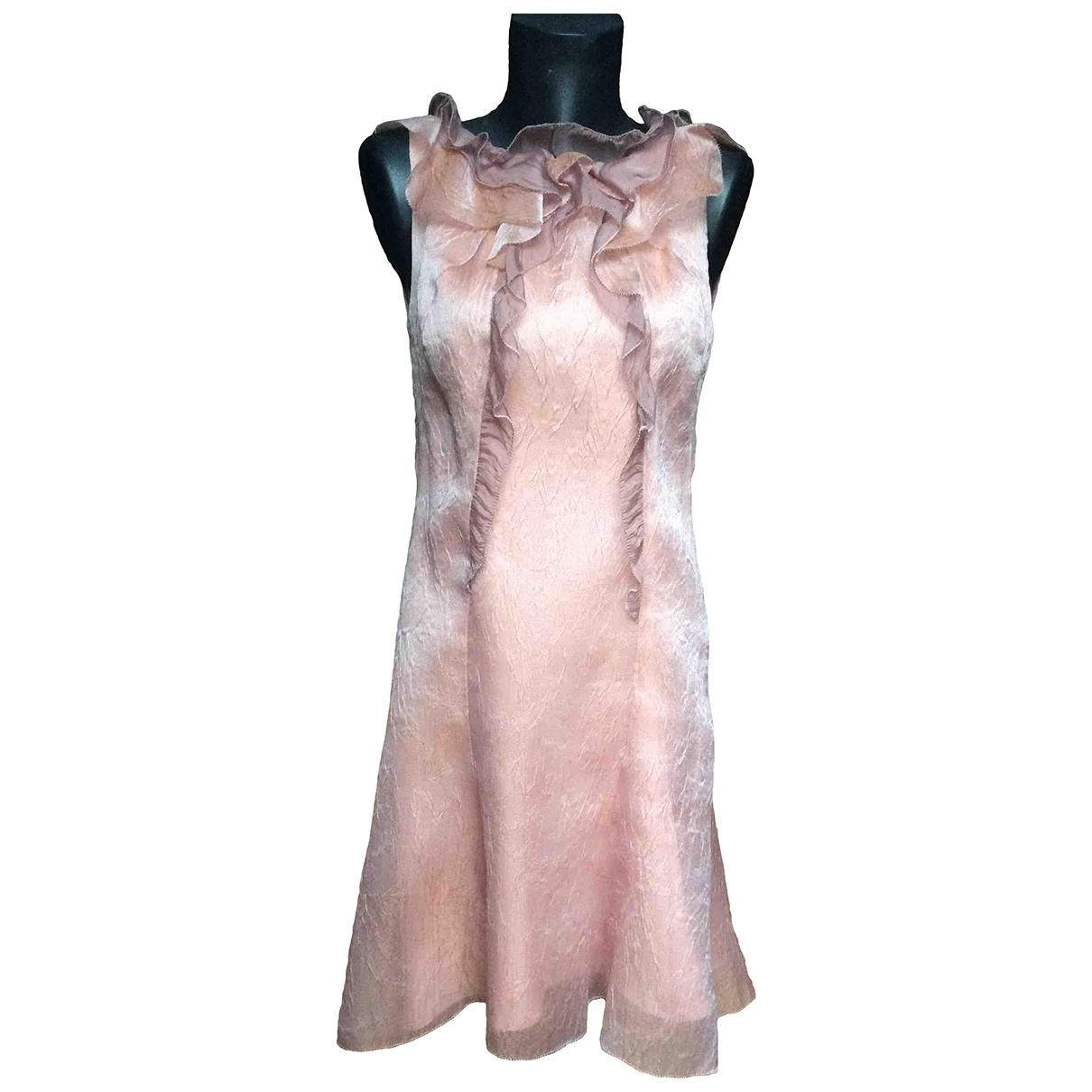 Nina Ricci \N Kleid in  Rosa Seide