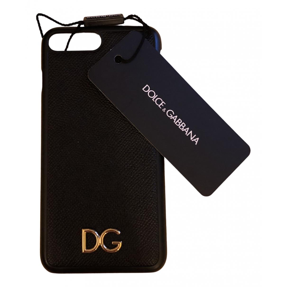 Dolce & Gabbana - Bijoux de portable   pour femme en cuir - noir