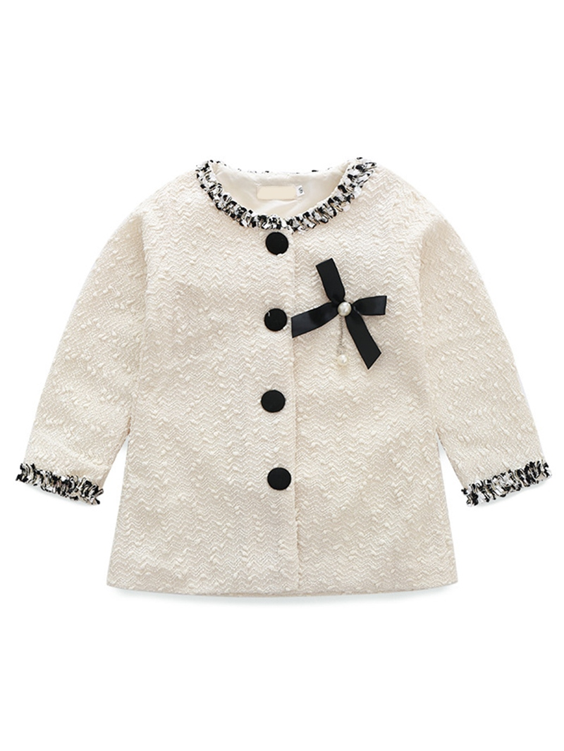 Ericdress Vintage Style Botton Fall Girls Outerwear With Bowknot